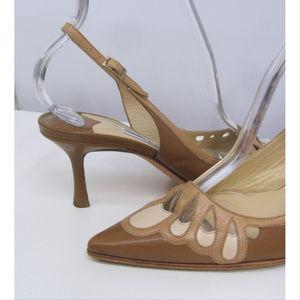 Jimmy Choo Shoes - Jimmy Choo Tan Slingback Shoes SZ 36 1/2